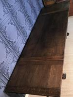 Large Oak Extending Dining Table (12 of 18)