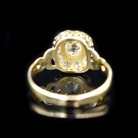 Antique Victorian Old Cut Diamond Cluster 18ct 18K Yellow Gold Ring 1.0ct total (3 of 9)