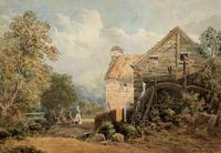 William Charles Goddard (exh.1885) Stunning Country Watermill Landscape Painting (3 of 15)