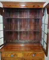 Edwardian Inlaid Mahogany Bookcase - (8 of 10)