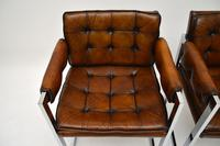 Pair of Vintage Leather & Chrome Armchairs (5 of 15)