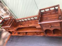 Antique Anglo Indian Teak Pedestal Writing Desk (8 of 13)