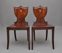 Pair of Early 19th Century Mahogany Hall Chairs (5 of 6)