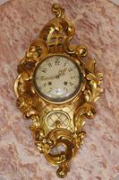 Scandanavian Wall Clock Antique Carved Rococo Giltwood Clocks (10 of 10)
