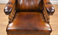 Pair of Victorian Hand Dyed Leather Library Chairs (6 of 13)
