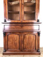 Victorian Mahogany Secretaire Bookcase (2 of 12)