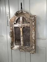 Antique French 18th Century wall mounted crucifix on gesso plaque (2 of 10)