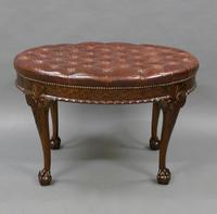 A Large Carved Mahogany Oval Stool (3 of 6)