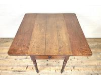 Antique 19th Century Welsh Oak Pembroke Table (7 of 10)