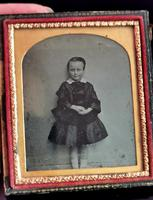Victorian Cased Ambrotype Photograph, Boy in a Dress (5 of 7)