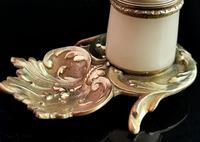 Antique French Bronze & Alabaster Inkwell (3 of 12)