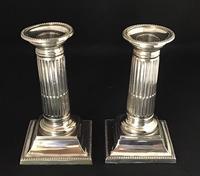 Pair of Silver Plated Corinthian Column Candlesticks (3 of 5)