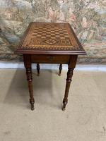 19th Century Games / Occasional Table with Inlaid Top (6 of 7)