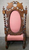 Pair of Victorian Jacobean Style Carved Oak Armchairs (9 of 12)