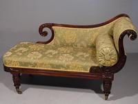 Attractive Mid 19th Century Rosewood Chaise Lounge by Gillows of Lancaster (2 of 9)