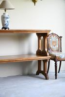 Victorian Gothic Oak Two Tier Serving Buffet Table (11 of 11)