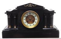 Amazing French Slate & Ormolu Mantel Clock 8 Day Striking Mantle Clock