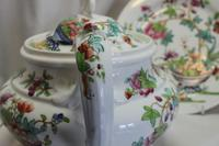 Ridgway Hand Coloured Porcelain Teapot and Stand (4 of 6)