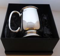 Viners 1960 Half 1/2 Pint Hallmarked Solid Silver Tankard Christening Mug 194g (8 of 10)