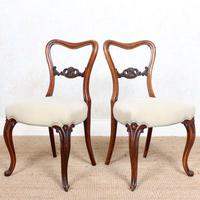 4 Walnut Balloon Dining Chairs 19th Century (8 of 12)