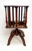 Small Edwardian  Mahogany Regency  Revival  Revolving Bookcase on Stand (10 of 11)