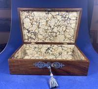 Victorian Brassbound Walnut Jewellery Box (2 of 9)