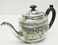 Antique Solid Silver Tea Pot Early Victorian Silver c.1849 (4 of 7)