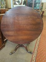 georgian oak tilt top / tripod  table
