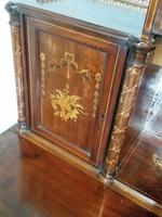 Victorian Mahogany And Inlaid Desk. (6 of 9)