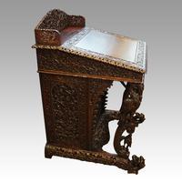 Antique Burmese Davenport (11 of 13)