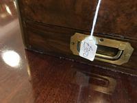 Burr Walnut Brass Inlaid Writing Box (13 of 17)