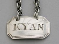George III Silver Sauce Label 'kyan', By Thomas & James Phipps, London, C1820 (3 of 5)