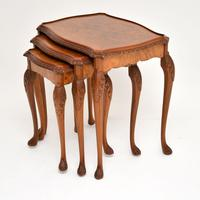 Queen Anne Style Burr Walnut Nest of Tables (4 of 8)