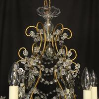 French Pair of Six Light Antique Chandeliers (9 of 10)