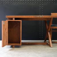 X- Leg Administrative Desk by Pierre Jeanneret c.1960 (3 of 7)