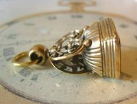 Antique Pocket Watch Chain Fob 1890s Victorian Large Gilt & Carnelian Samuel Fob (2 of 12)