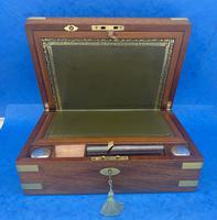 Victorian  Solid Mahogany Writing Slope (6 of 14)
