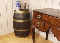 Georgian Oak Brandy Barrel. Stick Stand. Lamp Table (3 of 11)