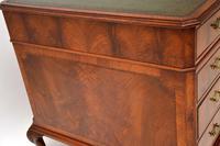 Large Antique Walnut Leather Top Pedestal Desk (7 of 12)