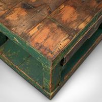 Large Antique Factory Work Table, English, Pine, Industrial, Mill, Victorian (8 of 10)