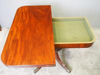Scottish Mahogany Foldover Tea Table (2 of 11)