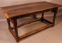 17th Century Refectory Table in Oak