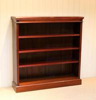 Mahogany Finish Rowan Wood Open Bookcase (4 of 10)