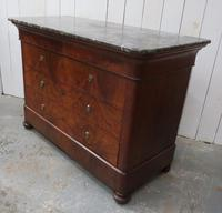 Antique Walnut Marble Top Chest of Drawers (7 of 9)