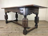 Antique Carved Oak Refectory Dining Table (12 of 15)