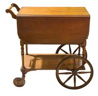 Vintage Mahogany Tea Trolley with Drop Down Flaps (3 of 7)