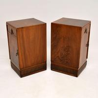 Pair of Art Deco Burr Walnut Bedside Cabinets (10 of 12)