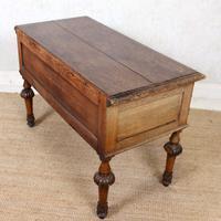 Oak Desk Green Man 19th Century (12 of 13)
