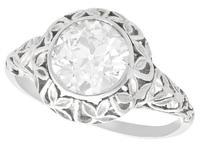 1.70ct Diamond & 18ct White Gold Solitaire Ring c.1910