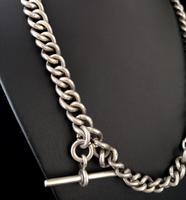 Antique Silver Albert Watch Chain, Heavy (13 of 13)